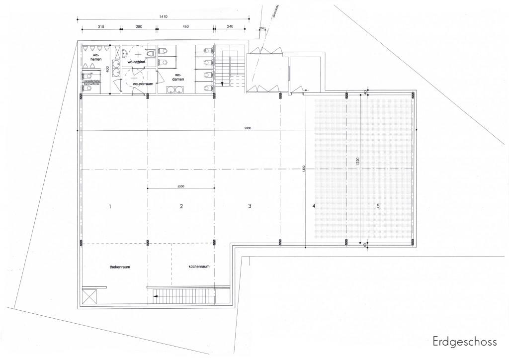 2016 - Dorfsaalneubau - Plan A4 - Erdgeschoss